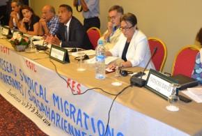 أشغال الملتقى الدولي الناجح  للشبكة النقابية حول الهجرة بحوض المتوسط وجنوب الصحراء تتوج بإصدار إعلان الدار البيضاء.  إشادة دولية بمستوى التنظيم والنقاش وقيمة العروض