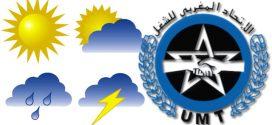 الاتحاد المغربي للشغل بقطاع الأرصاد الجوية يدعو إلى حمل الشارة يوم الخميس  17 يناير 2019