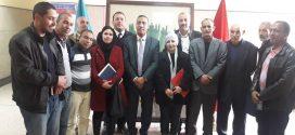 استقبال الأمين العام للإتحاد المغربي للشغل للمكتب الجديد للإتحاد المحلي لنقابات وادي زم أبي الجعد