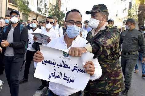 قمع الوقفة الاحتجاجية للممرضات والممرضين وتقنيي الصحة استخفاف بالمطالب العادلة والمشروعة للأطر الصحية وتضحياتها